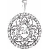 Mystara® Diamonds Vintage-Inspired Pendant