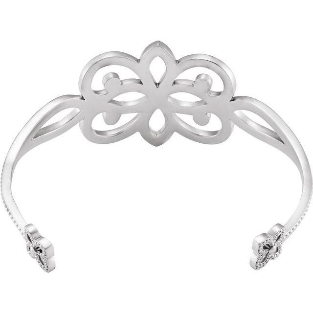 Sterling Silver Granulated Cuff Bracelet