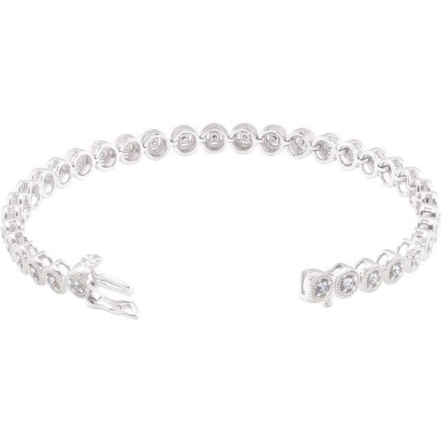 14K White 1 CTW Diamond 7