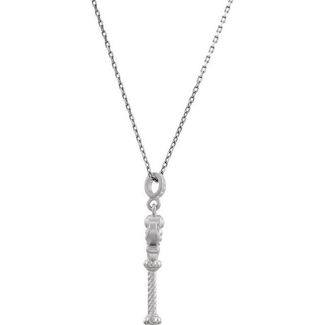 Sterling Silver Vintage-Style Key 18