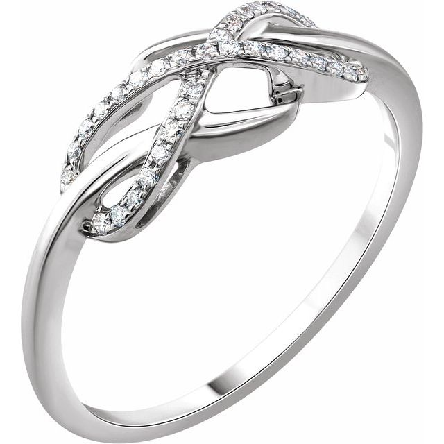 Accented Infinity-Inspired Ring