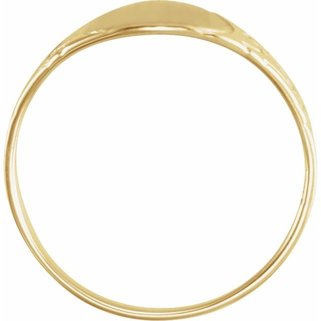 14K Yellow 6 mm Round Youth Signet Ring
