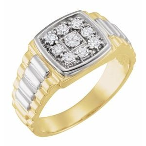 14K Yellow/White 3/8 CTW Diamond Ring