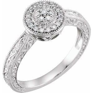 10K White 1/6 CTW Diamond Promise Ring