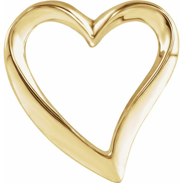 14K Yellow Heart Slide Pendant
