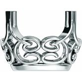 Oval 4-Prong Scroll Basket Setting
