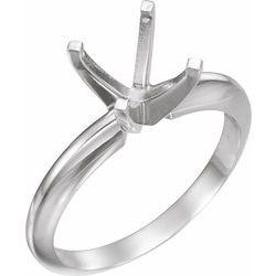 Square 4-krapne Heavy Šinka / Šina Solitaire Ring Mounting