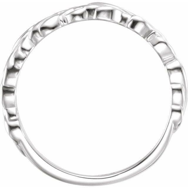 Sterling Silver Stackable Leaf Ring