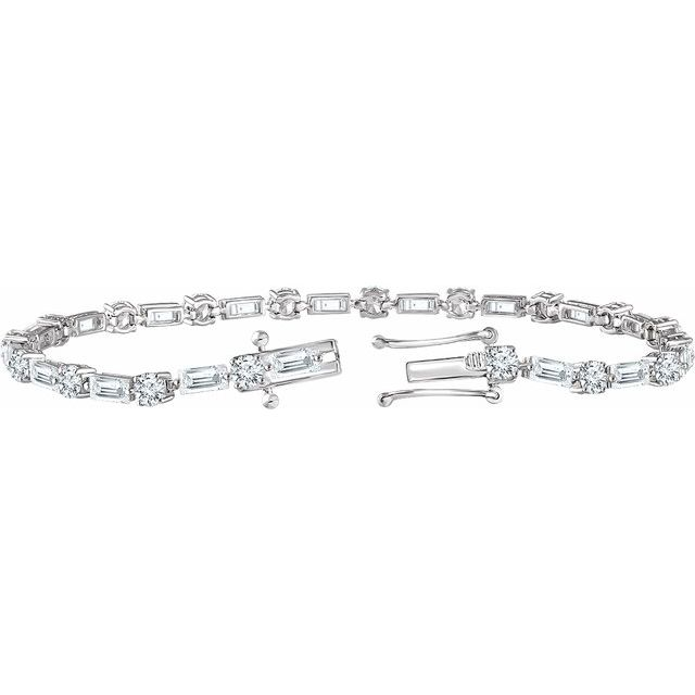 Sterling Silver Cubic Zirconia Line 7