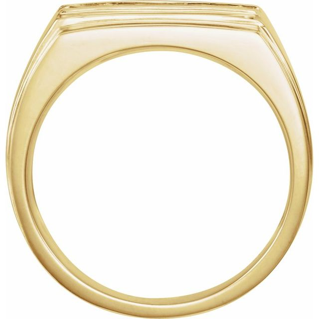 14K Yellow 17x13 mm Rectangle Signet Ring