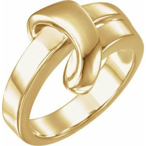 14K Yellow Knot Ring