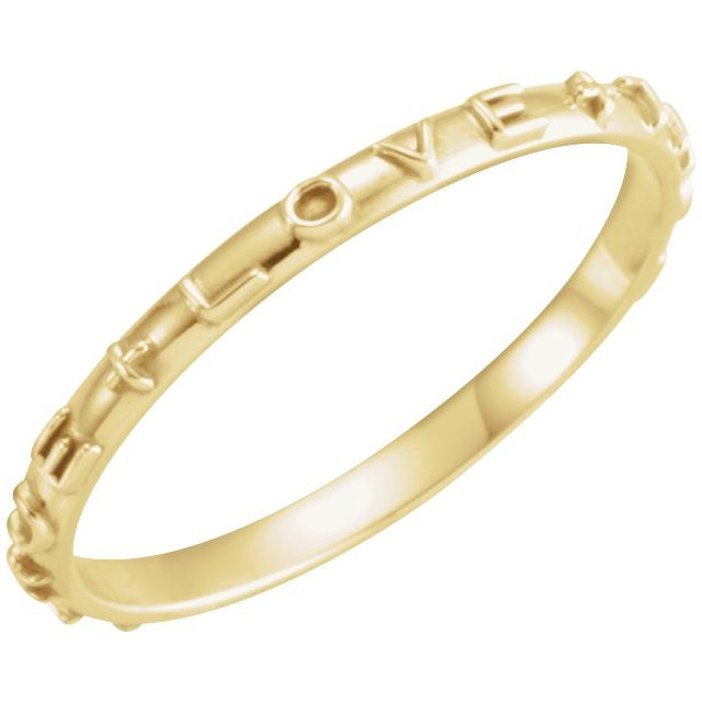 10K Yellow True Love Chastity Ring Size 6