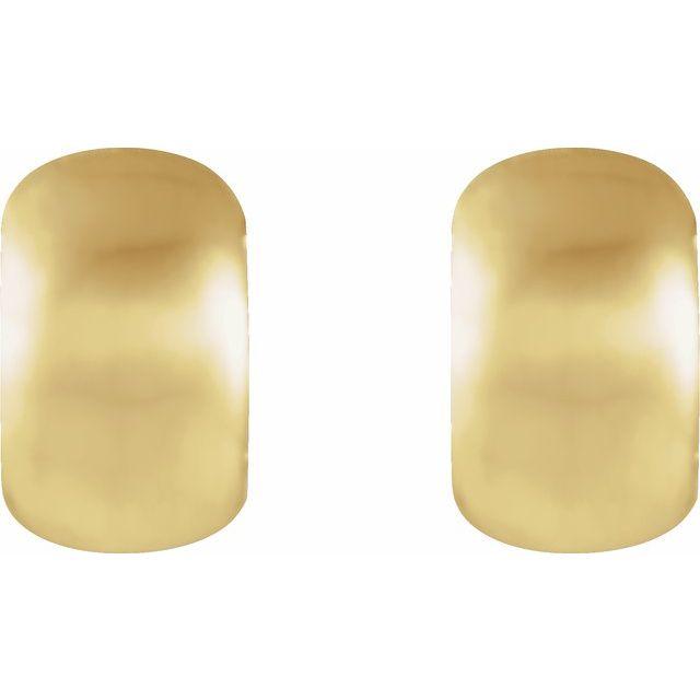14K Yellow 11.5 mm Hinged Earrings
