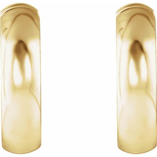14K Yellow 14.25 mm Hinged Hoop Earrings