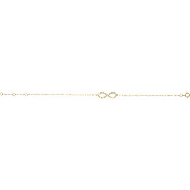 14K Yellow 1/6 CTW Diamond Infinity-Inspired 8