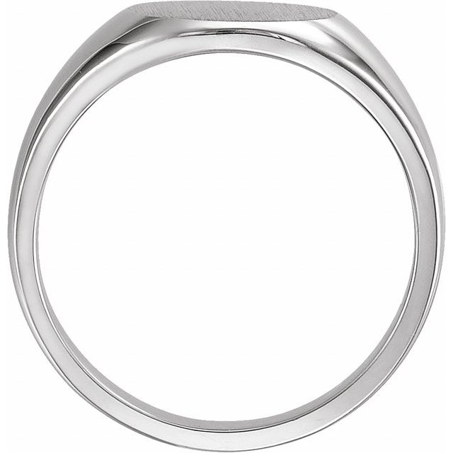 Sterling Silver 13 mm Round Signet Ring