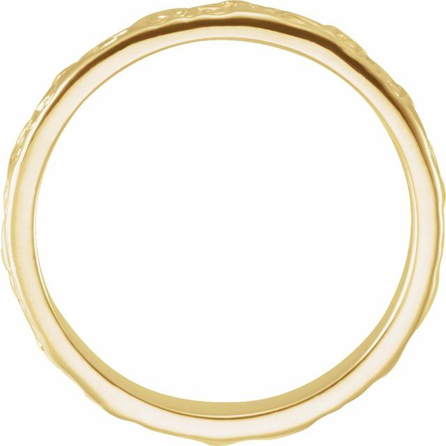 14K Yellow 3.5 mm Floral-Inspired Band Size 7