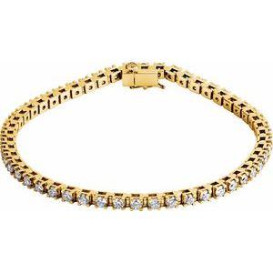 "14K Yellow 3 1/2 CTW Diamond Line 7 1/4"" Bracelet"