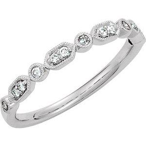 Platinum 1/8 CTW Diamond Ring