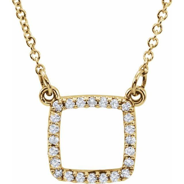 14K Yellow 1/8 CTW Diamond 16