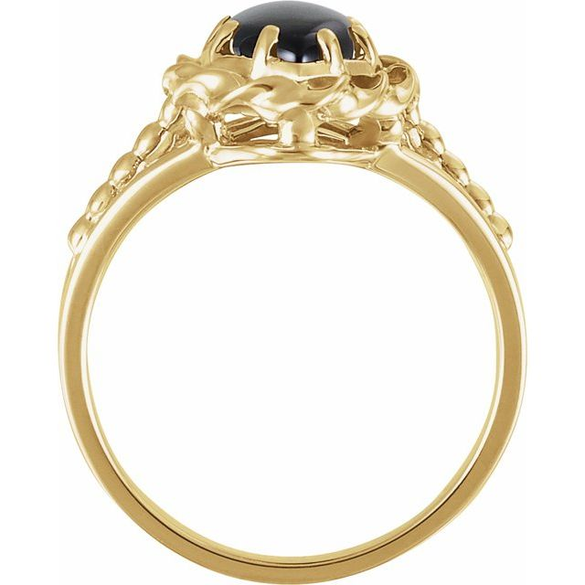 14K Yellow Onyx Rope Ring