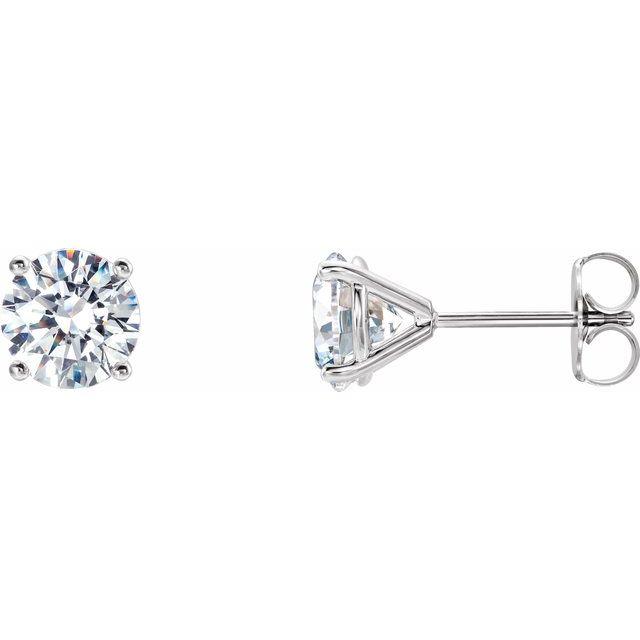 14K White 1 1/2 CTW Lab-Grown Diamond 4-Prong Stud Earrings