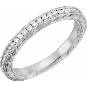 14K White 1/4 CTW Diamond Anniversary Band
