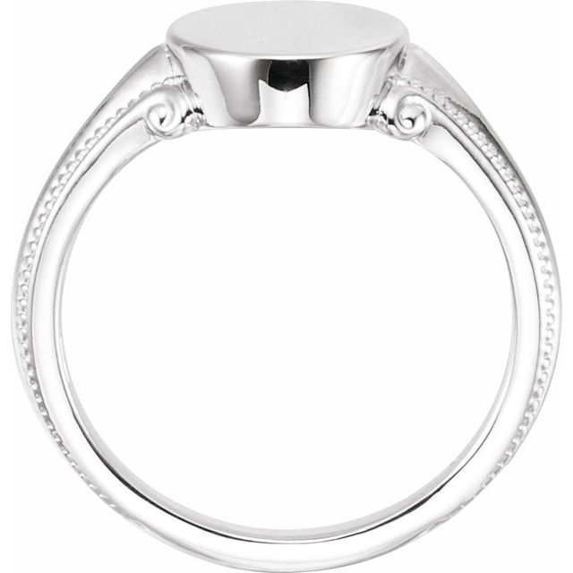 Sterling Silver 13x9.65 mm Oval Signet Ring
