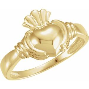 14K Yellow Claddagh Ring Size 11