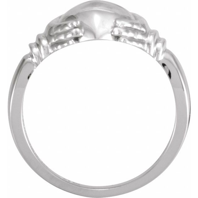 Sterling Silver Claddagh Ring Size 11