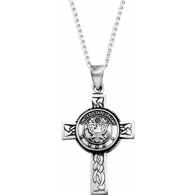 Sterling Silver U.S. Army Cross 24