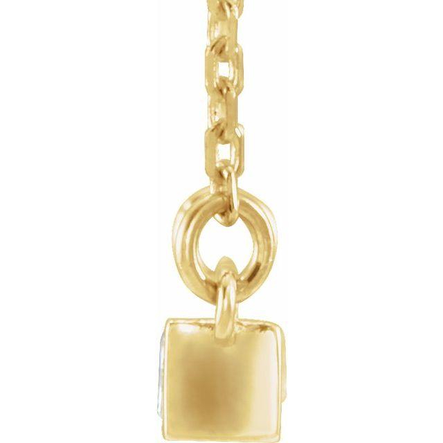 14K Yellow 1/2 CTW Diamond Bar Necklace