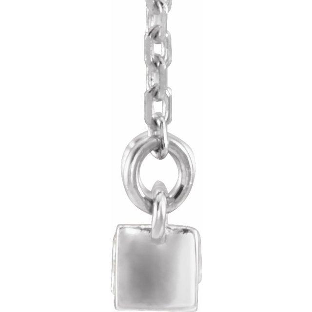 14K White 1/2 CTW Diamond Bar 17