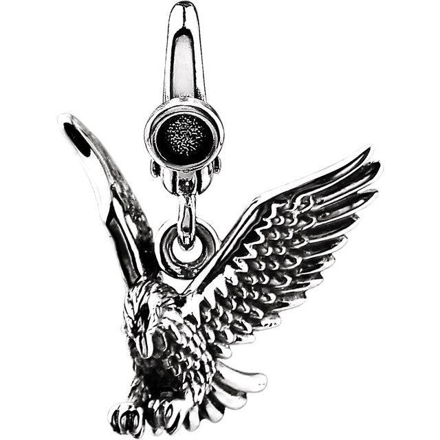Sterling Silver American Eagle Charm