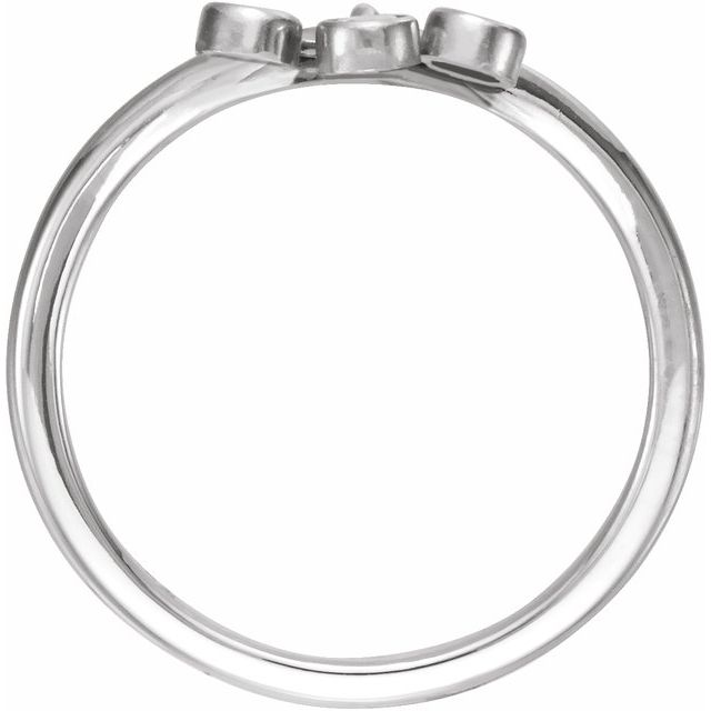 14K White 1/5 CTW Diamond Three-Stone Fringe
