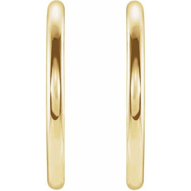 14K Yellow 20 mm Vintage-Inspired Hoop Earrings