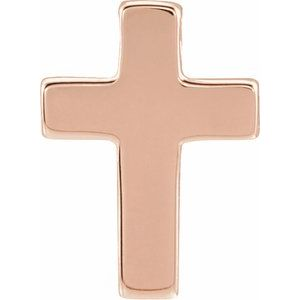 14K Rose Petite Cross Slide Pendant