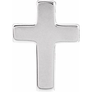 14K White Petite Cross Slide Pendant