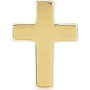 14K Yellow Petite Cross Slide Pendant