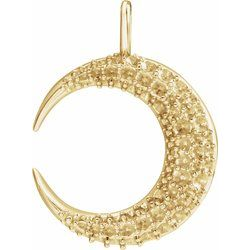 Accented Crescent Moon Necklace or Pendant