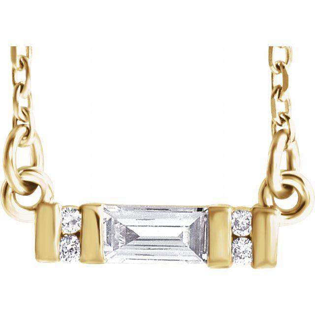 14K Yellow 1/10 CTW Diamond Bar 16-18