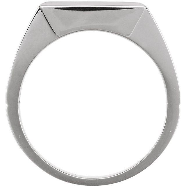 14K White Onyx Ring