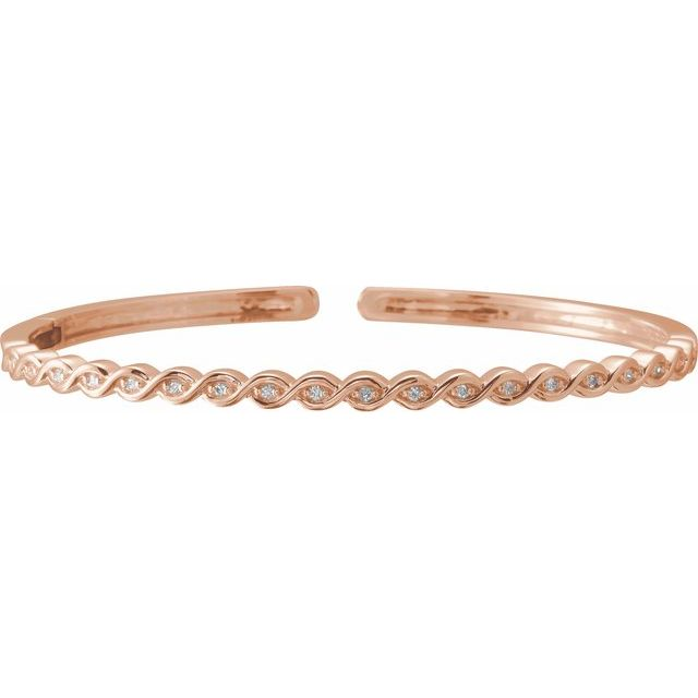 14K Rose 1/6 CTW Diamond Stackable Bangle Bracelet