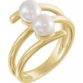 Two-Stone Pearl Ring