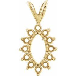 13-Stone Marquise Cluster Pendant