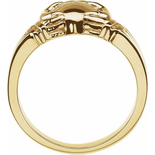 14K Yellow .04 CTW Diamond Claddagh Ring