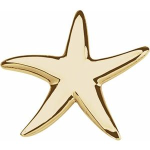 14K Yellow Starfish Pendant