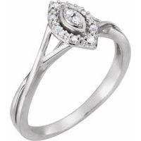 10K White .06 CTW Diamond Promise Ring