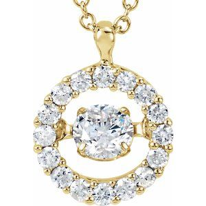 "14K Yellow 1/2 CTW Diamond Mystara® 18"" Necklace"