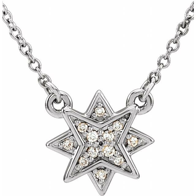 14K White .04 CTW Diamond Star 16-18